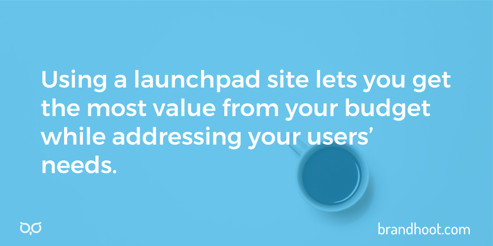 Use a launchpad or minimum viable product to save on your website budget.